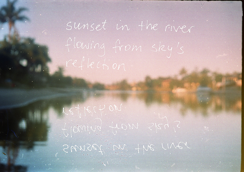 Sunset in River