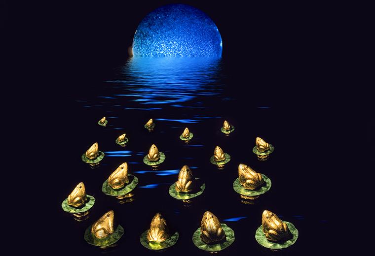 Midnight Gathering Under a Blue Moon
