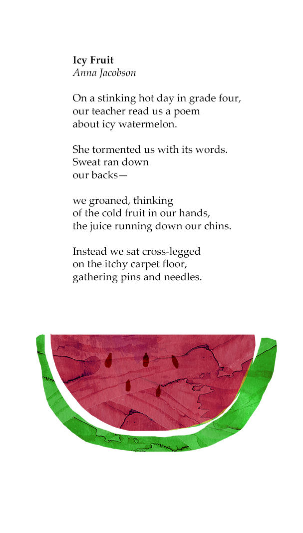 Icy Fruit, Published in Our Home is Dirt by Sea Anthology (Walker Books) 2016